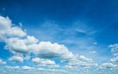 Sky with cumulus clouds — Stock Photo