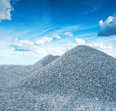 Pile of granite gravel — Stockfoto