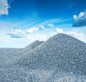 Pile of granite gravel — 图库照片