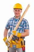 Man with carpentry tools — Stock Photo