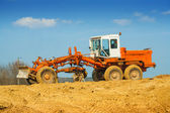 Old roadworking tractor — Stok fotoğraf