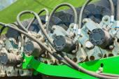 Machine hydraulic conveyor drive — Stock Photo