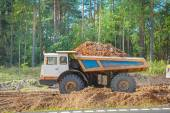 Old tipper with clay ground — Stock Photo