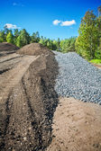 Waste asphalt and gravel — Stock Photo