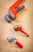 Fixtures and monkey wrench — Stock Photo