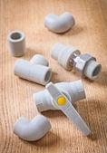 Plastical plumbing fixtures — Stock Photo