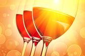 Three wineglasses with wine — Stock Photo
