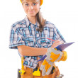 Beautiful female worker — Stock Photo #58756675