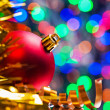 Red bauble and tinsel — Stockfoto #58756699