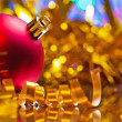 Red christmas bauble — Stock Photo #58756765