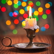 Vintage candle in candleholder — Stock Photo #58756779