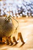 Single christmas ball — Stock Photo