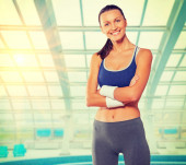 Female wearing sports clothes — Stock Photo