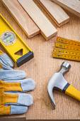 Satz von zimmerhandwerk-werkzeuge — Stockfoto