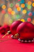 Two christmas balls — Stock Photo