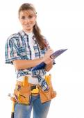 Caucasian female worker — Stock Photo