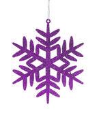 Pink christmas toy snowflake — Stock Photo