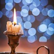 Old burning candle — Stock Photo #60346457