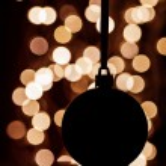 Silhouette of christmas ball — Stock Photo #60346491