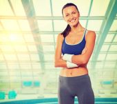 Woman wearing sports clothes — Stock Photo