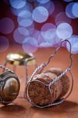 Champagne corks and wires — Stockfoto