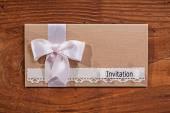 Wedding invitation envelope — Stock Photo
