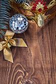 装飾クリスマスの背景 — ストック写真