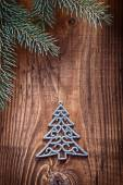Toys fir tree with branches of firtree — Stock Photo
