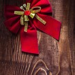 Red christmas bow — Stock Photo #61465085
