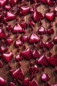 Background red valentines beads garland — Foto de Stock