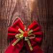 Red christmas bow — Stock Photo #62781517