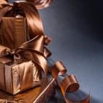 Giftboxes on black background — Stock Photo #62781607