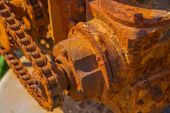 Rusted gear mechanism — Stock Photo