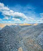 Gravel and construction sand — Stock Photo