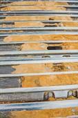 Close up tracks of exkavator — Stock Photo