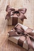 Brown vintage gift boxes — Photo