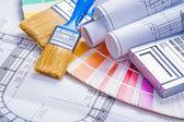Construction paint concept — Fotografia Stock