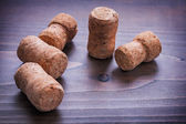 Set of champagne corks — Stock Photo