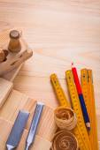 Composition of woodworking tools — Stock Photo
