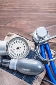 Stethoscope and blood pressure monitor — Stock Photo