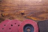 Brazives set on vintage wooden board — Stock Photo