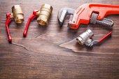 Plumbing fixtures monkey wrench — Foto de Stock
