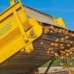 Potato harvester in work — Stock Photo #69016515