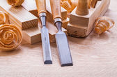 Cinceles de herramientas de carpintería vieja moda — Foto de Stock