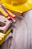Zestaw narzędzi budowlanych — Zdjęcie stockowe