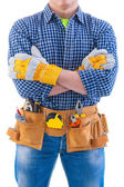 Construction worker with crossed arms — Stock Photo