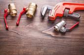 Plumbing fixtures monkey wrench — Stock Photo