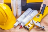 Set of tools construction concept — Stock Photo
