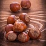 Little heap of hazelnuts — Stock Photo #69626531