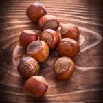 Little heap of hazelnuts — Stock Photo #69626539